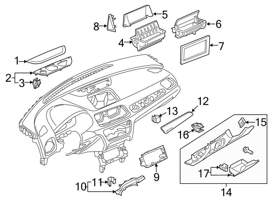 2017 Audi Q3 Gps Navigation System Bracket  Holder - 8u0857273c6ps