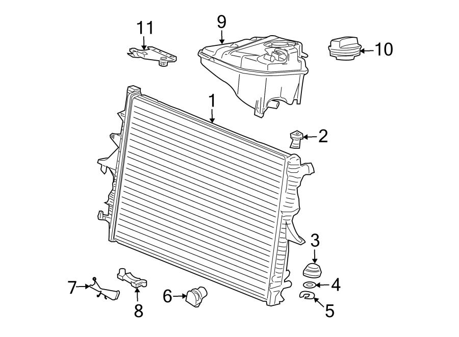 audi q7 bracket  mount  engine coolant reservoir  radiator