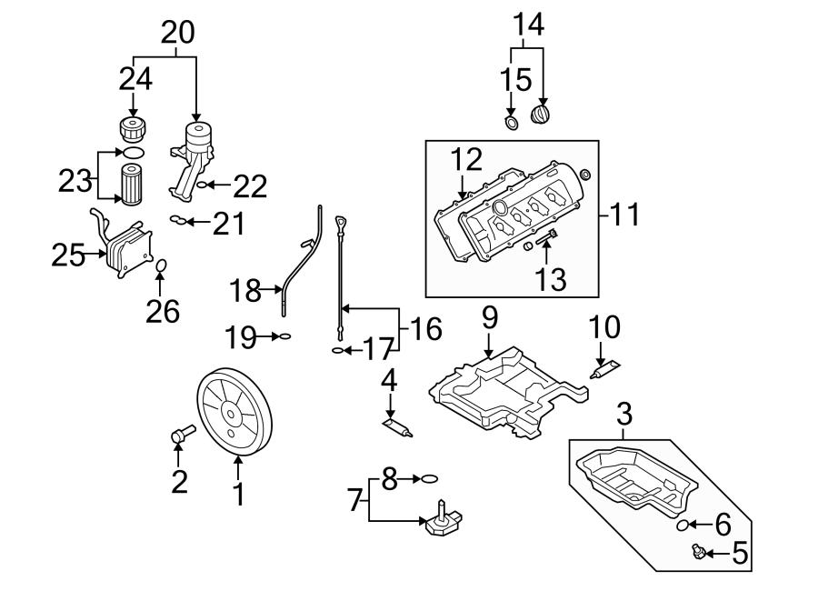 079103483r Engine Valve Cover Gasket Genuine Audi Part