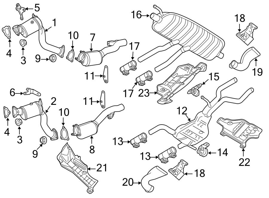 2015 Audi Q7 Heatshield  Diesel  2010