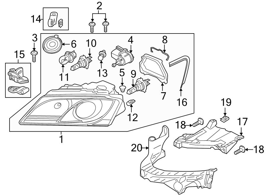 Audi Q5 Headlight Restoration Kit  Lamps  Inner  Wxenon - 8r0998121
