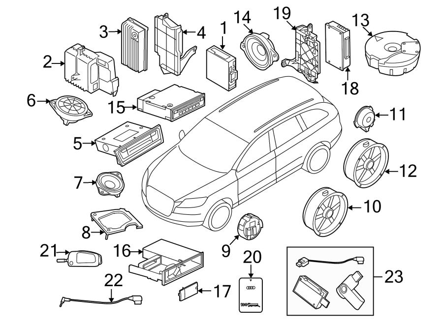 2017 Audi Q5 Bracket  Mount  Control  Module  Parking Aid