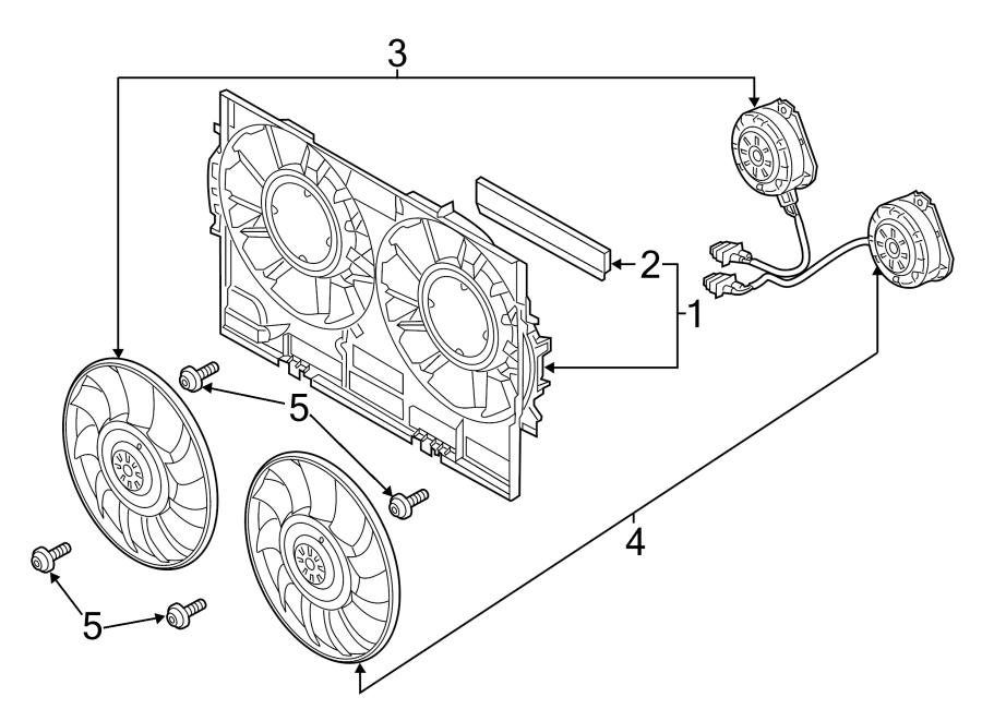 2015 audi q5 shroud  fan  cowl  engine cooling  front duct