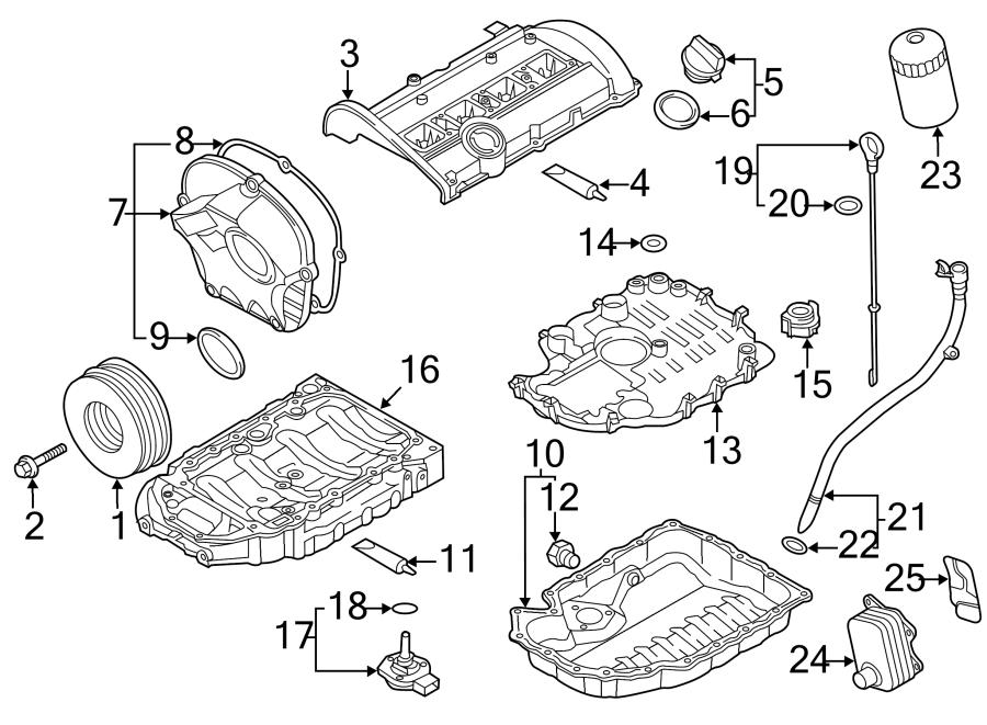 2014 Audi Q5 Engine Oil Dipstick Tube Cap  Tube Plug - 06h115418m