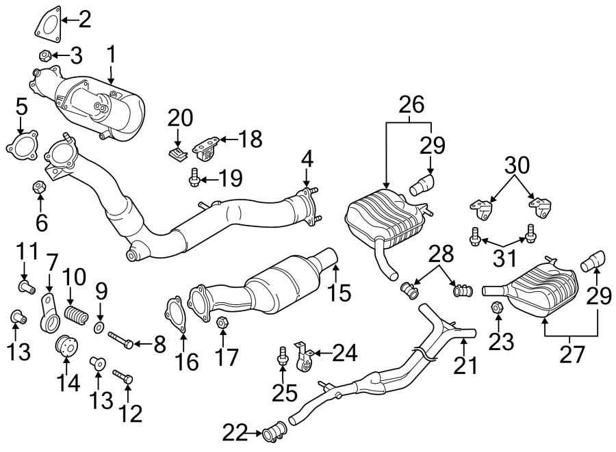 Audi Q5 Catalytic Converter  Pipe  Converter  Catalytic  And  Cnvrtr  Catalyst