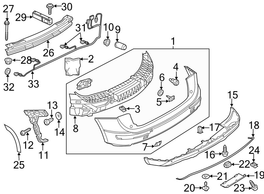 2016 audi sq5 bracket  bumper impact bar  reinforcement  pkg  line  rear - 8r0807313b