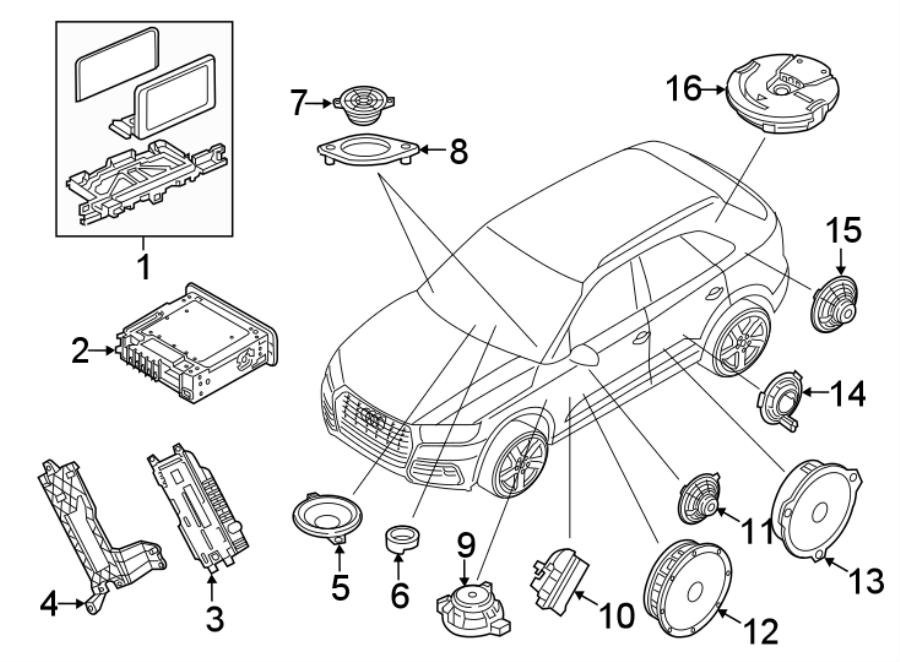 2018 Audi Q5 Gps Navigation System  8 25  Q5  Sq5  Unit  Display - 80a919605