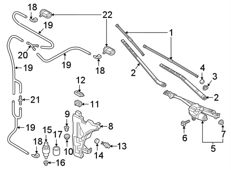 1k6955651 - pump  washer  components  wiper  windshield