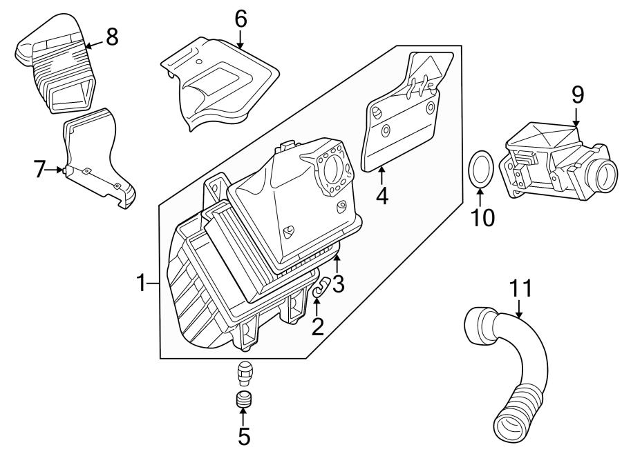 Audi A4 Engine Air Intake Hose. 1.8 LITER. Manifold ...