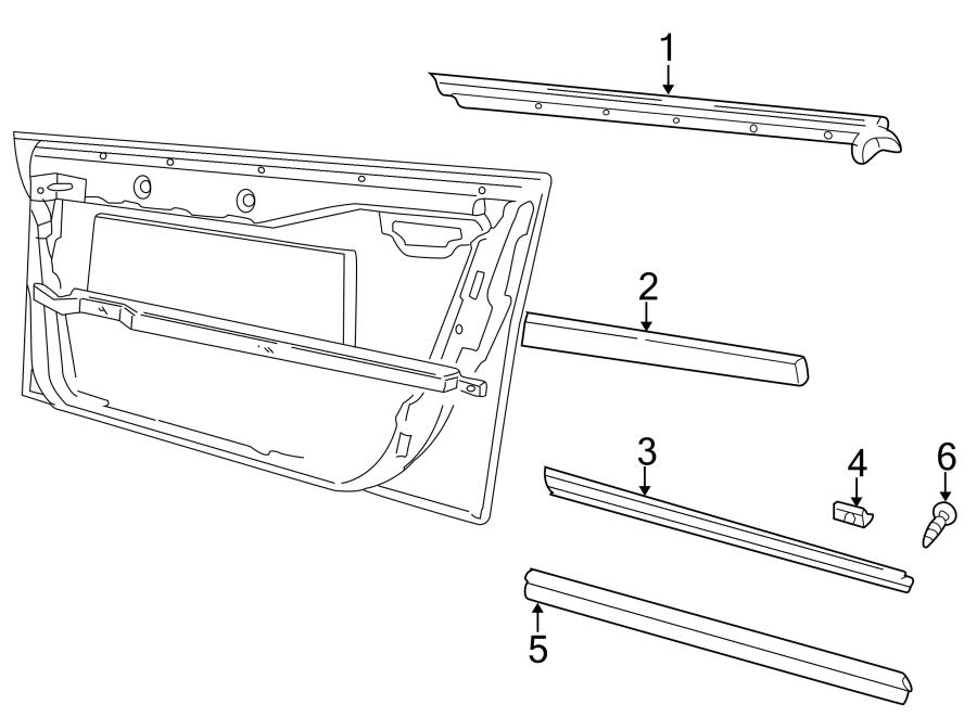 audi a4 2 8l v6 a  t fwd door molding  lower   chrome  body  trim - 8d0853953gru