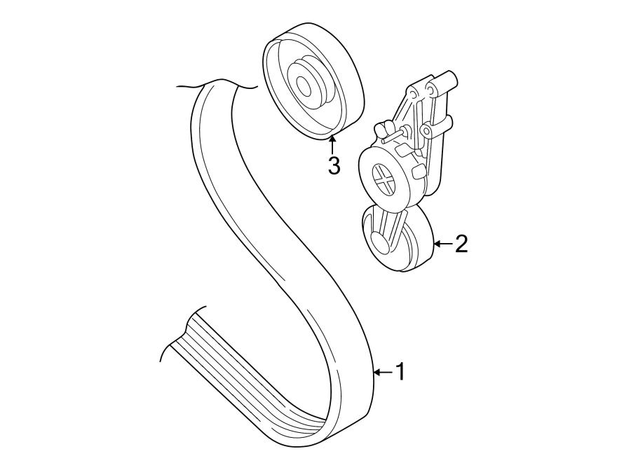 audi a4 base sedan 2 0l m  t fwd accessory drive belt tensioner assembly  beltdamper  serpentine