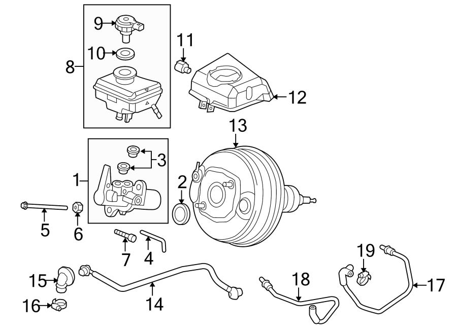 audi a4 brake master cylinder nut  ate  2013