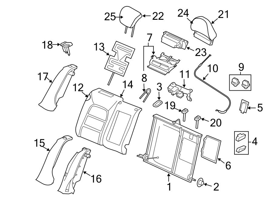 Right Side Seat Back Components Rear Seat Components