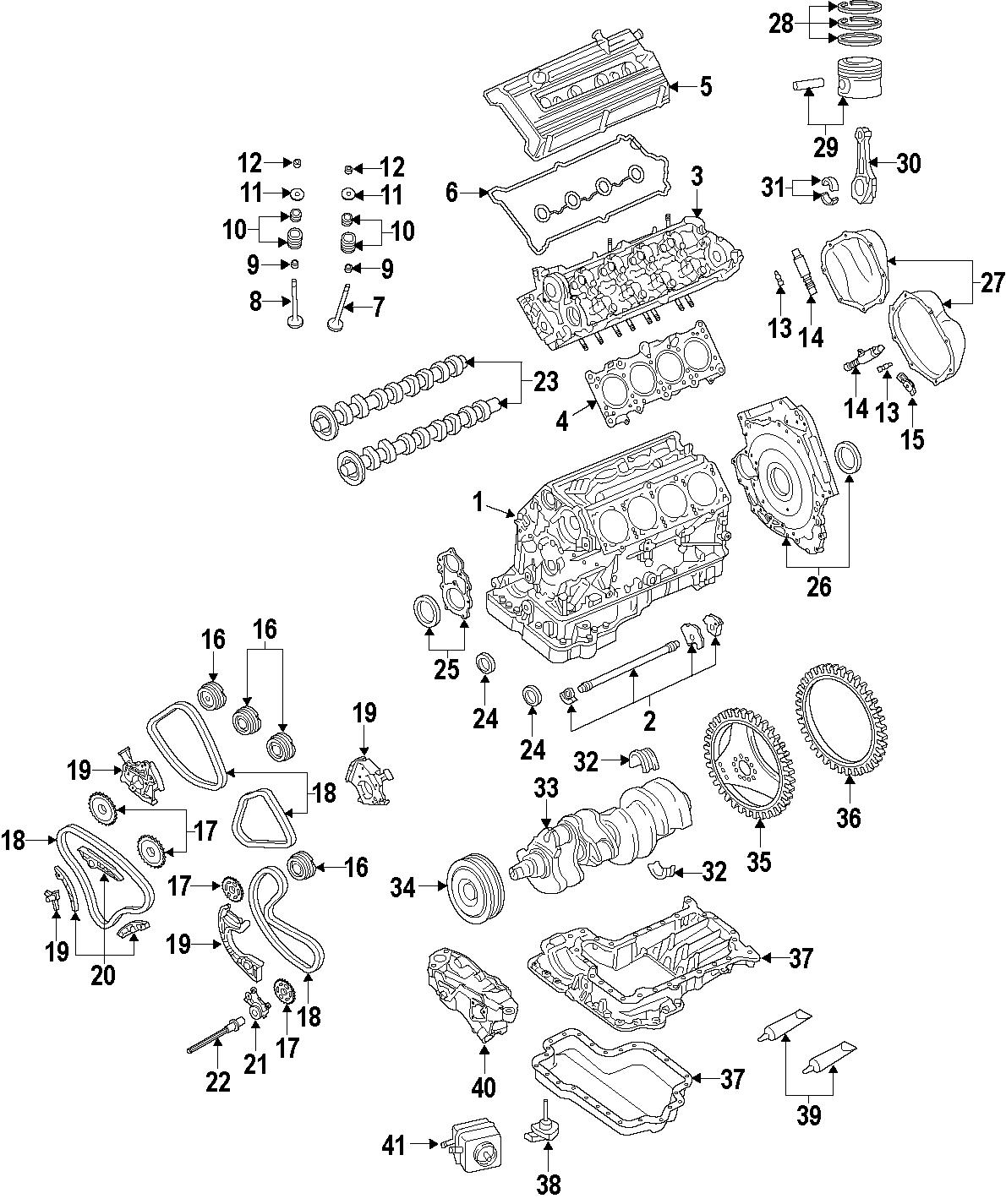 Audi A8 Engine Mount  Rear  - 4e0199381fl