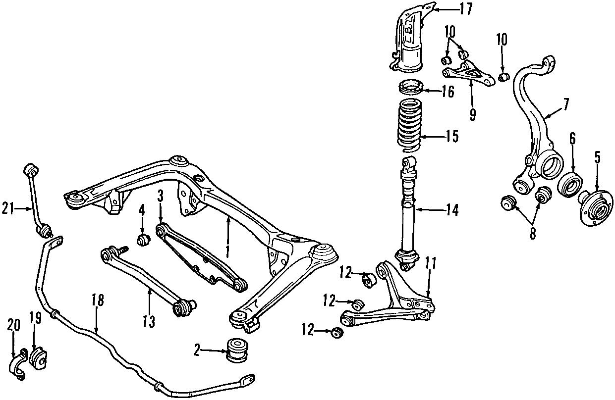 audi a4 bearing  wheel  hub assembly  rear  75 x 37mm