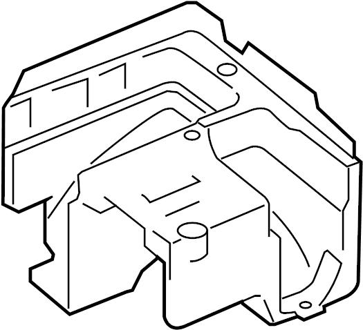 Audi Q3 Bracket  Fuse  Relay  Box  And  Mount  Engine