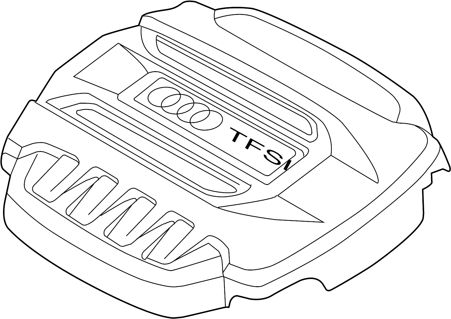 2017 audi tt engine cover  liter  convertible  transaxle