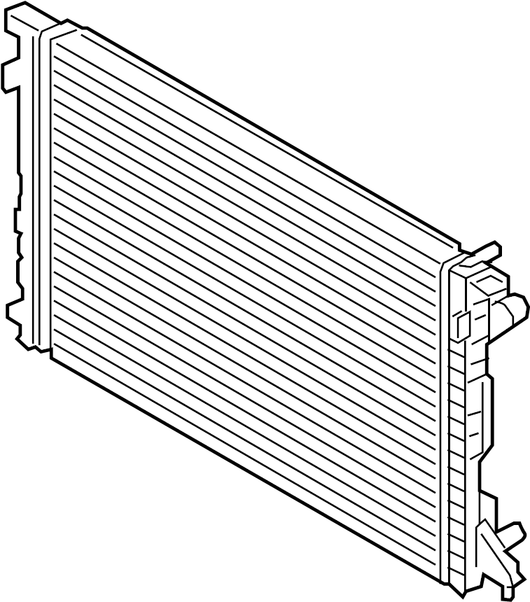 audi a4 radiator  liter  trans  main