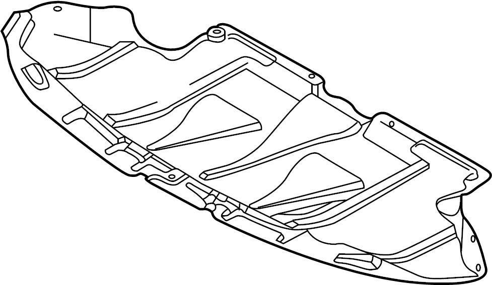 2006 audi a4 cabriolet convertible 1 8l cvt fwd radiator support splash shield  front  lower