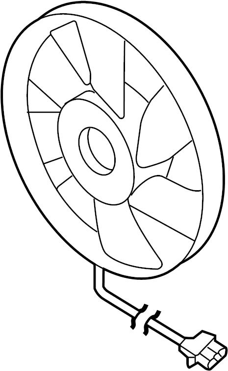 2004 audi a4 electr fan  fan and motor  fan blade  watt
