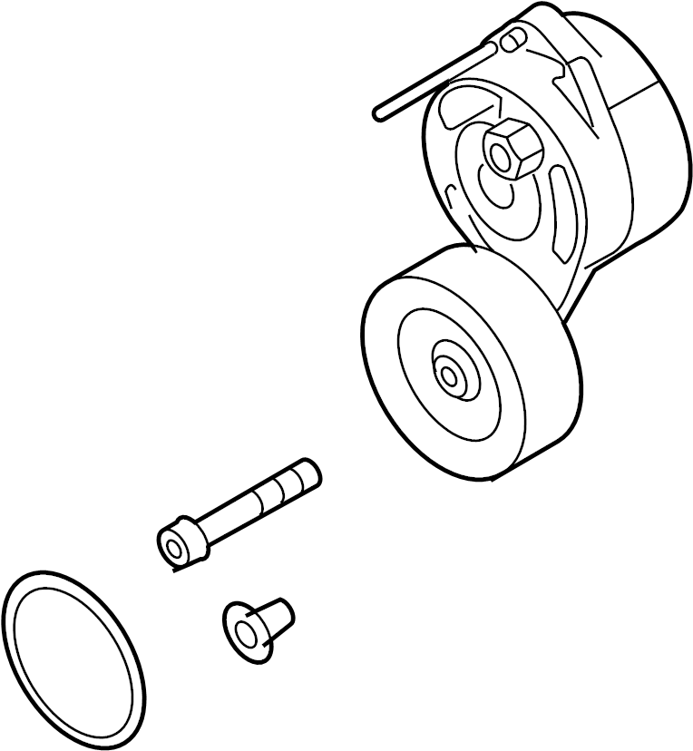 audi a6 accessory drive belt tensioner assembly