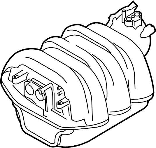 06e133210p - engine intake manifold  3 2 liter  engine component that directs air to