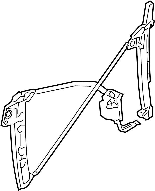 2009 Audi A4 Cabriolet Convertible Regulator. Power