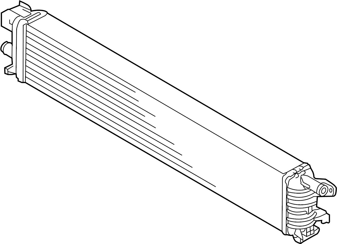 2015 audi auxiliary radiator  intercooler  center  left
