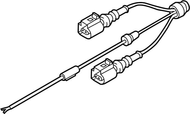 2014 audi a6 abs sensor wire  abs wheel speed sensor