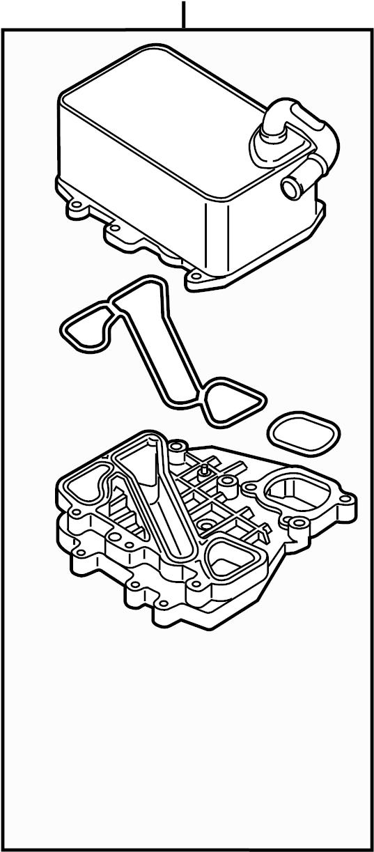 2016 audi q5 engine oil cooler  cylinders  upper  lower - 059117015p