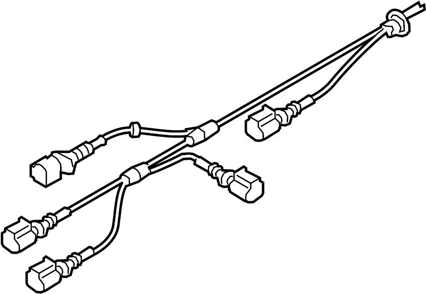 4g0972253b - abs wheel speed sensor wiring harness  suspension  rear  brake