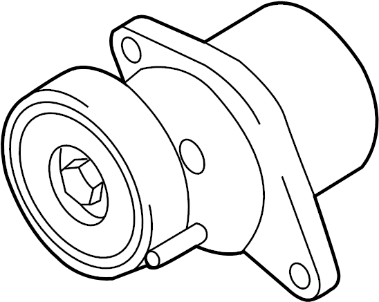 audi a6 belt tensioner  beltdamper  mount bracket