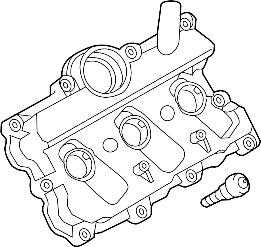 06e103471p - valve cover  includes  gasket