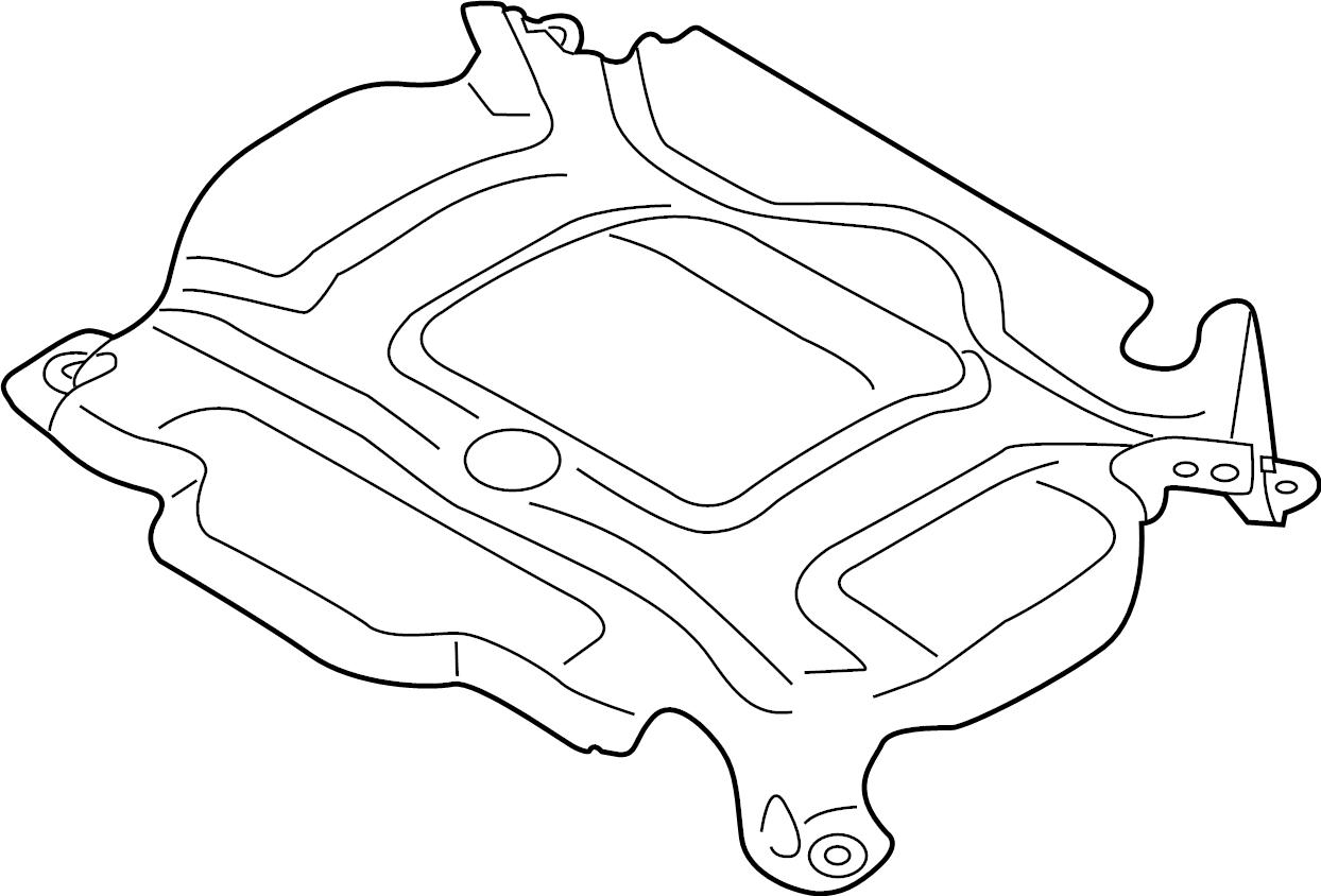 2018 Audi S5 Engine Cover Insulator  Liter  Shield