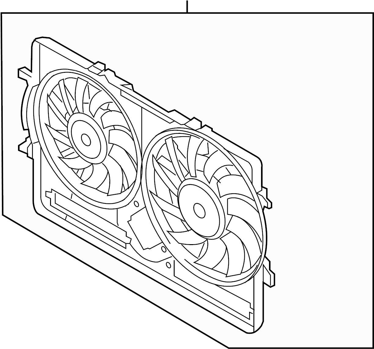 2012 audi q5 shroud  fan  includes fan  motor  air box