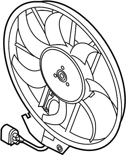 2014 audi q5 3 0l tdi v6 diesel engine cooling fan motor