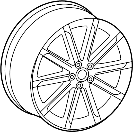 8t0601025cs - wheel  alloy  spoke  code  cap