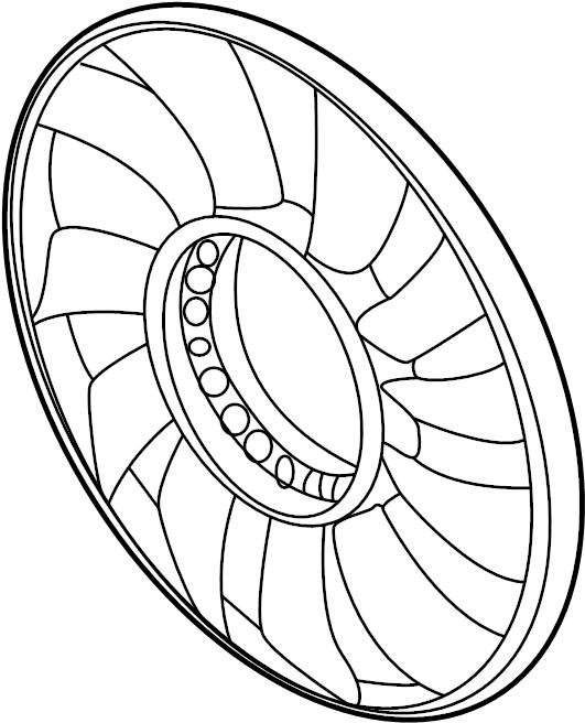audi a4 2 8l v6 m  t fwd engine cooling fan clutch blade