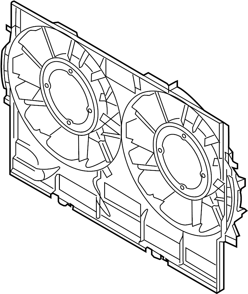 2015 audi q5 shroud  fan  cowl  engine cooling  front duct  liter  diesel  gas