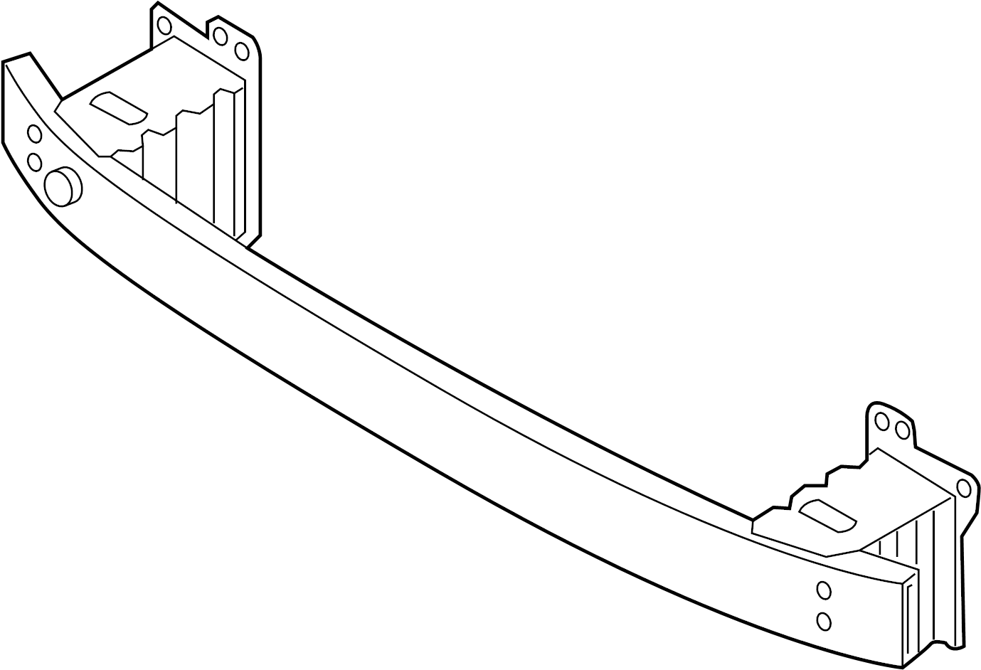 4h0807109c - bumper impact bar  2011-14  2015-18  impact bar  u0026 brackets