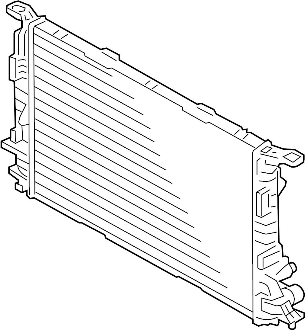 4h0121251e - Radiator  Primary  Cooling  Liter