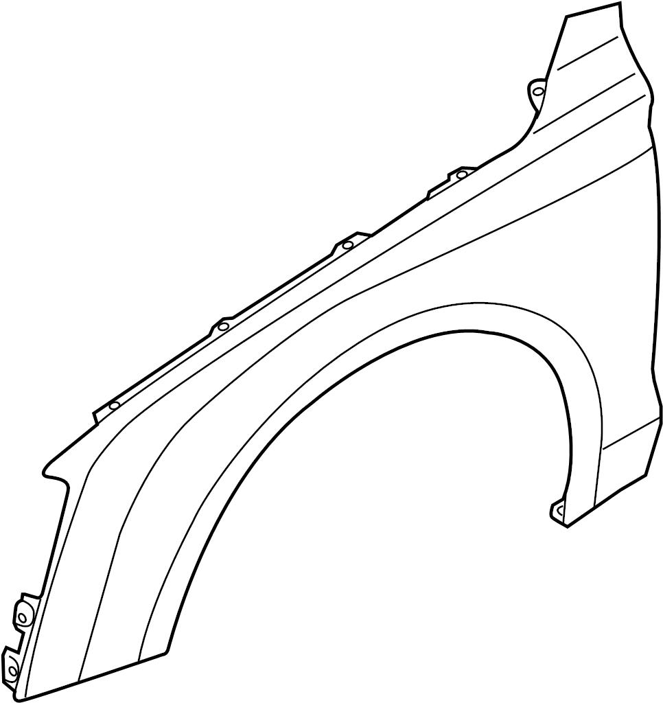 4H0821106B  Fender  Front  Liter  Panel  Right  Genuine    Audi    Part