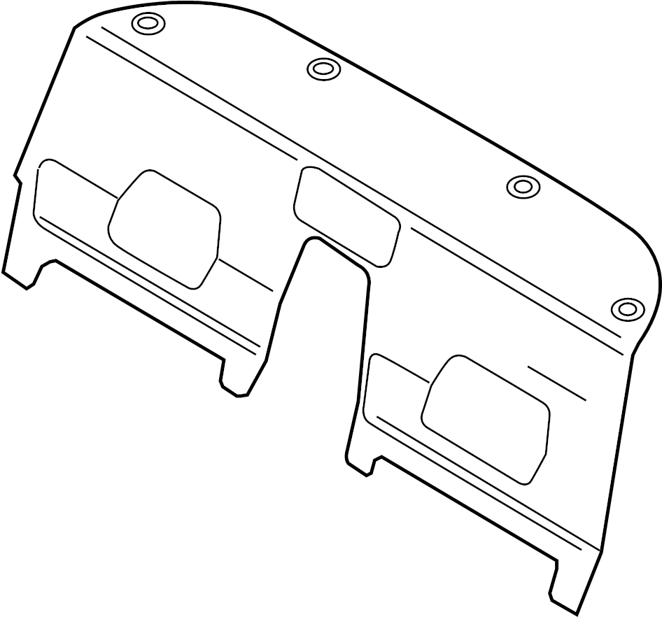 Package Tray. COUPE, PASSENGER COMPARTMENT