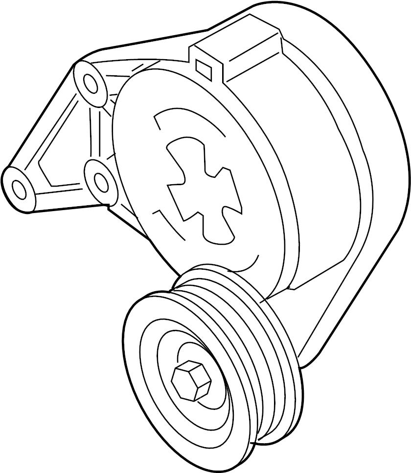 2005 audi belt tensioner  beltdamper  serpentine tensioner  3 2 liter  tt  3 2l