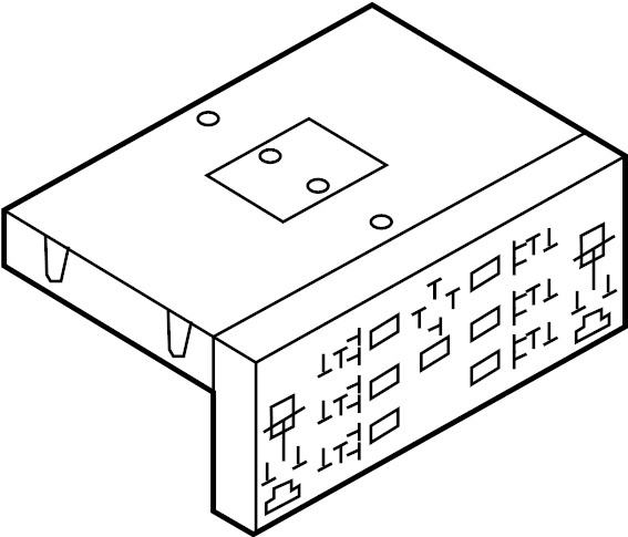 8p0907279p - relay box  passenger compartment  power module  2008-09