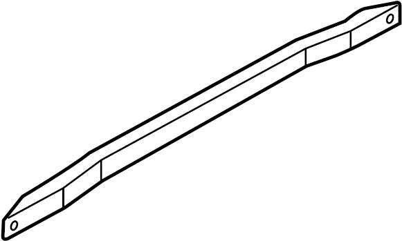 4l0831507a - door reinforcement bar  front  impact