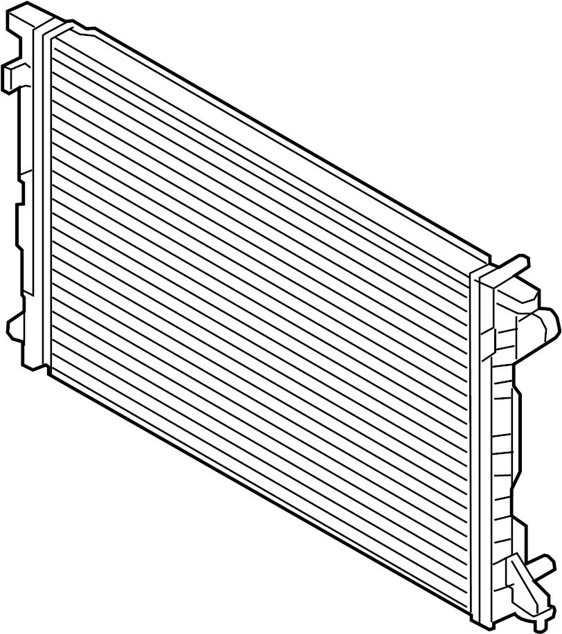 2018 audi q7 radiator  2 0 liter  auto trans  2 0 liter