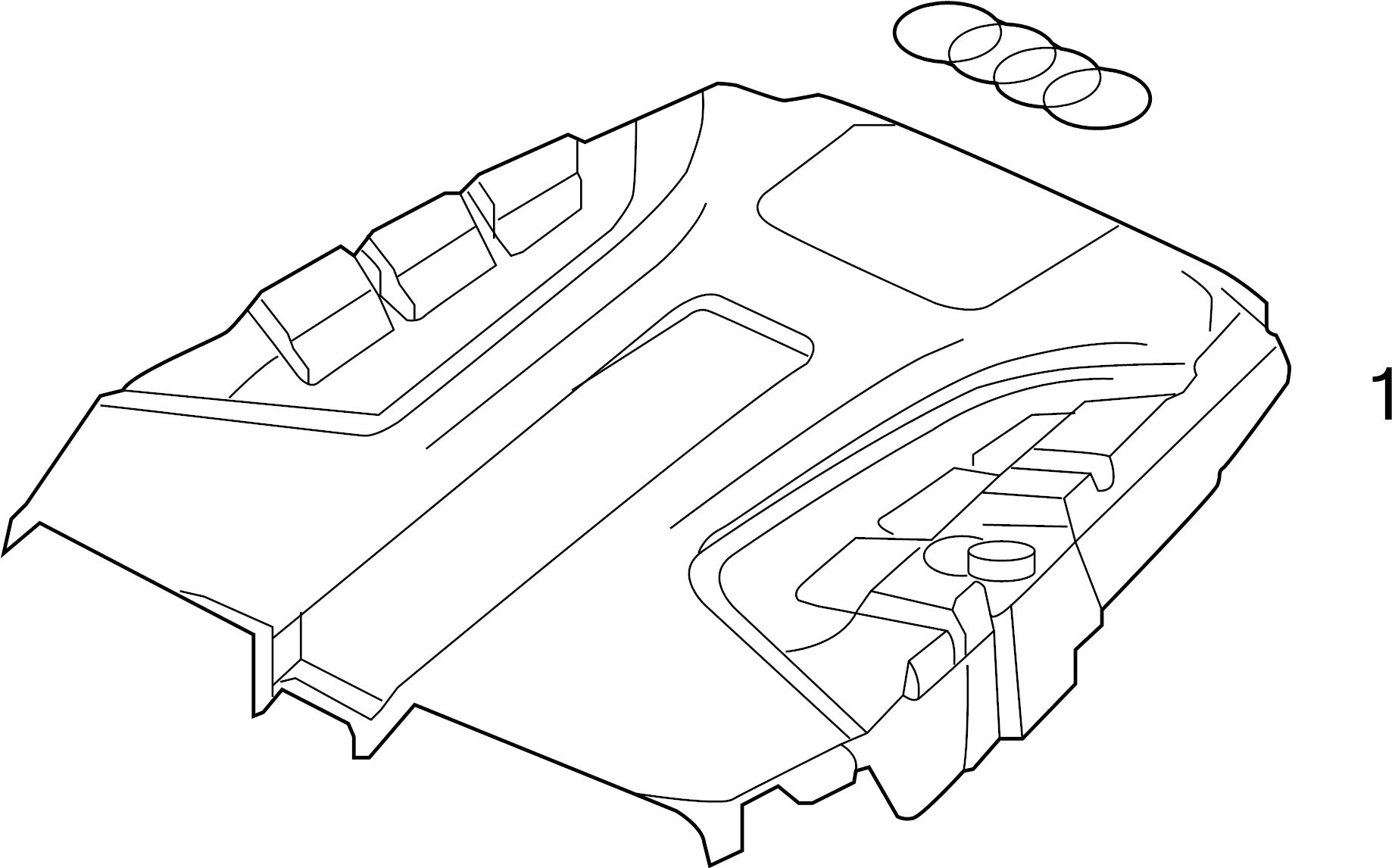 4h0103940 - emblem  plate  included with  cover  engine cover  rear cover