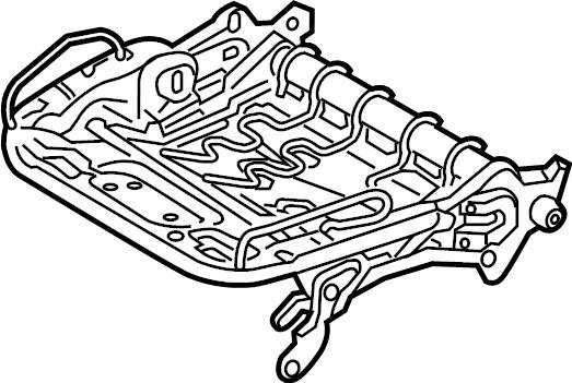 4m0881106q - seat  frame  adjuster  track adjust mechanism  cushion  lower channel