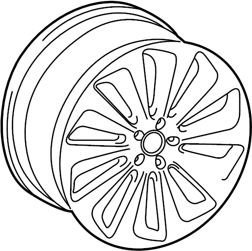 audi sq5 wheel  alloy  19  10 spoke flare spoke